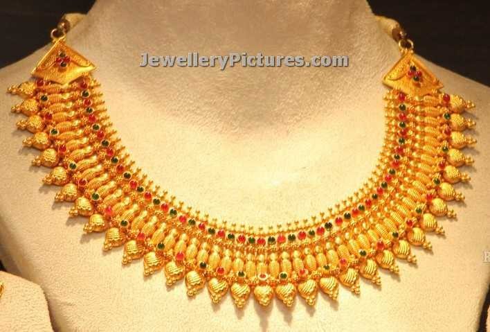 simple necklace deisgns in gold