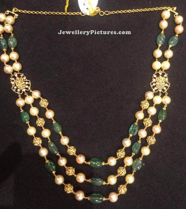 Pearl Chain Designs Traditional Model Jewellery Designs