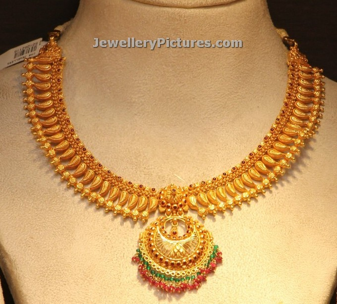 gold hallmarked jnov pearl pid chains pearls jpearls emerald products line bis grams sri jagdamba chain designer