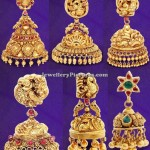 Temple Jhumka Designs by GRT