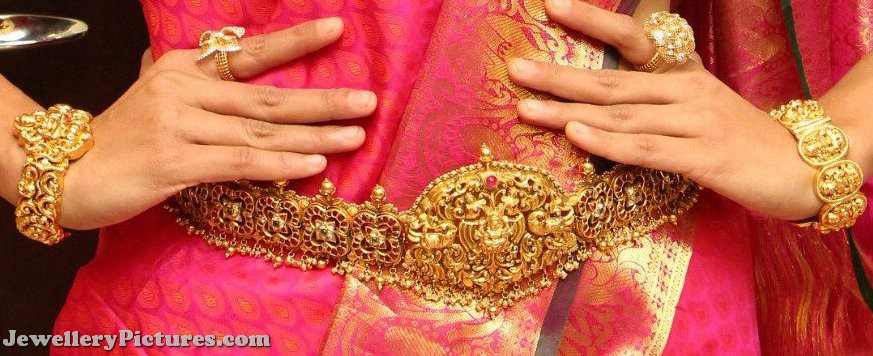 gold vaddanam bridal jewellery designs