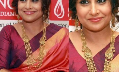 vidya balan jewellery gold at senco
