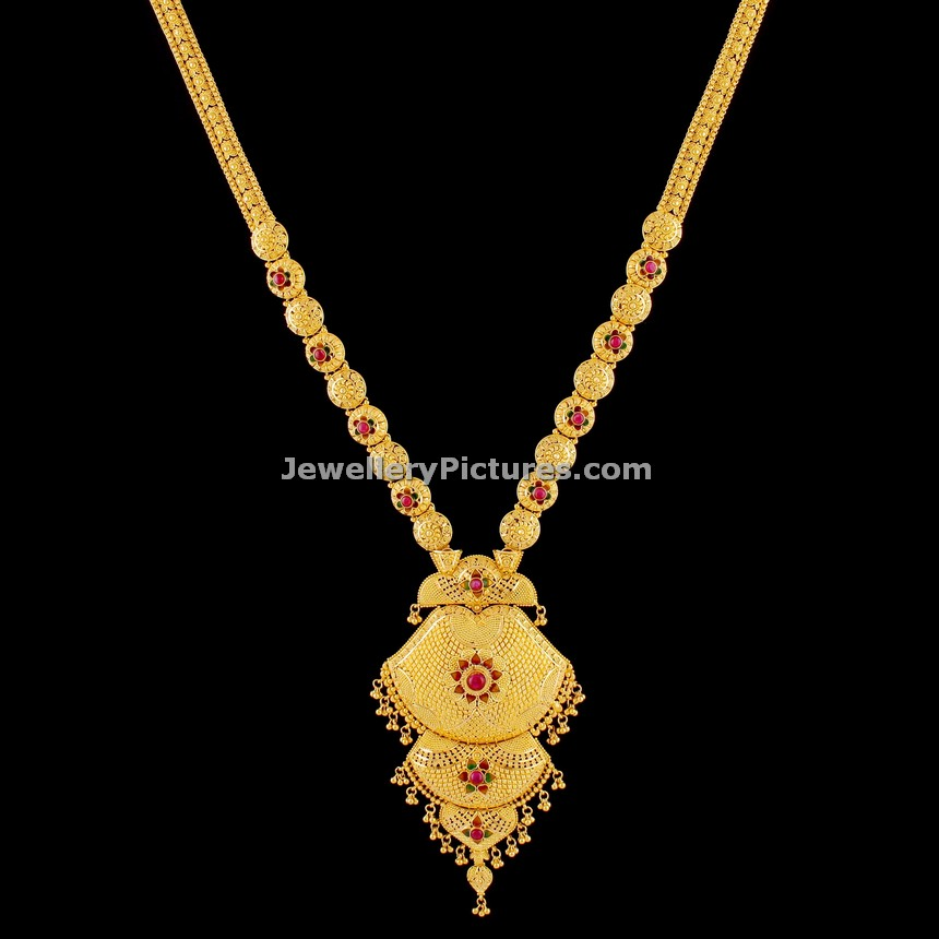 Pearl Jewellery Necklace >> Latest Antique Gold Haram Top 12 Designs - Jewellery Designs