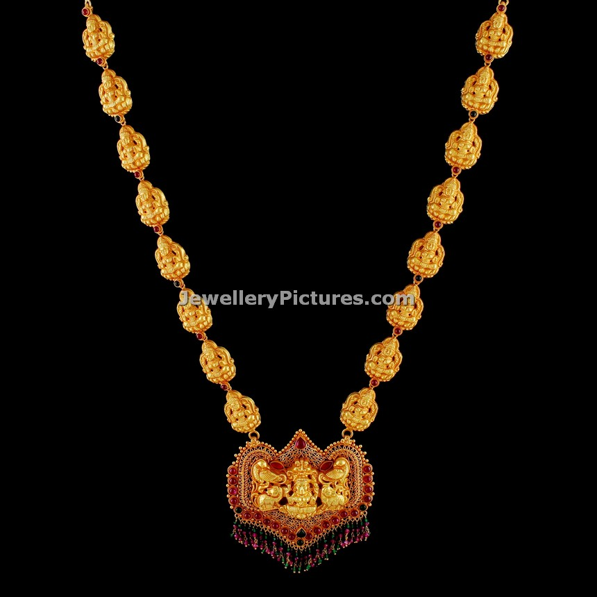 Latest Antique Gold Haram Top 12 Designs Jewellery Designs