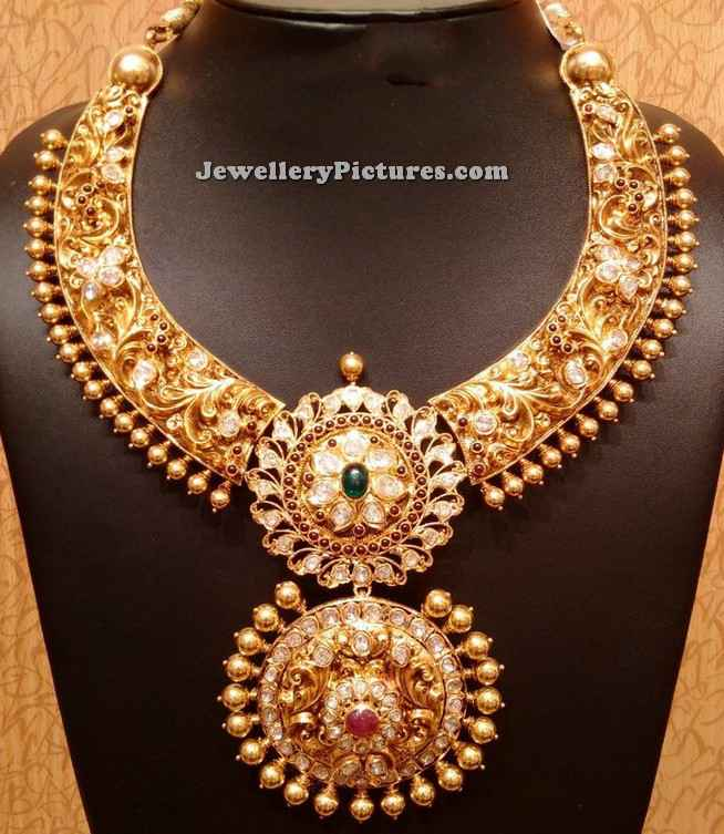 bridal gold jewellery necklace