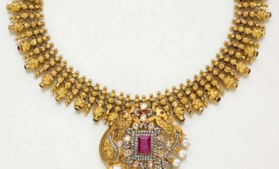south inidan gold necklace