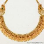 Kasu Necklace Designs in Gold