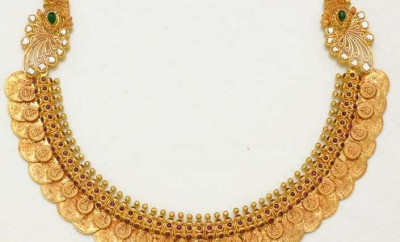 gold kasu necklace designs