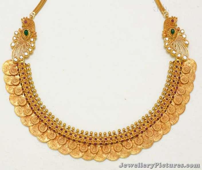 gold kasu necklace designs