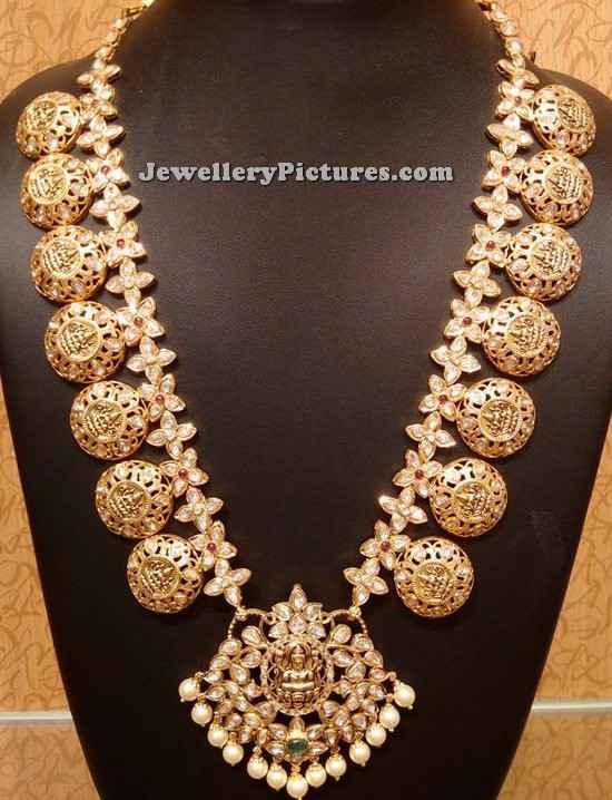 kasulaperu designs with locket with lakshmi devi coins