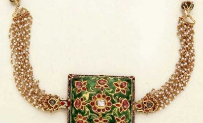 nizam jewellery choker with pearls