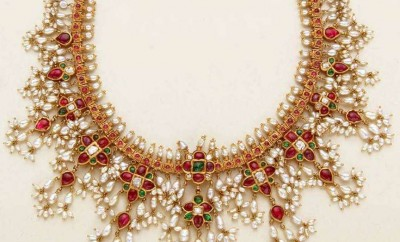 pearl necklace designs in gold