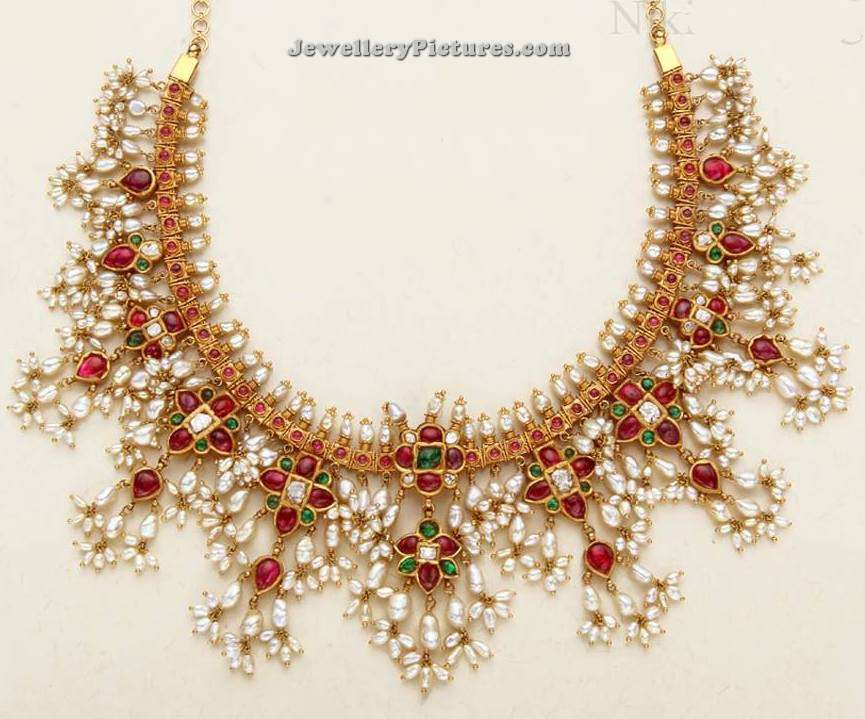 Pearl Necklace Latest Indian Jewelry - Jewellery Designs