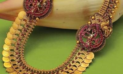 antique kasulaperu in gold