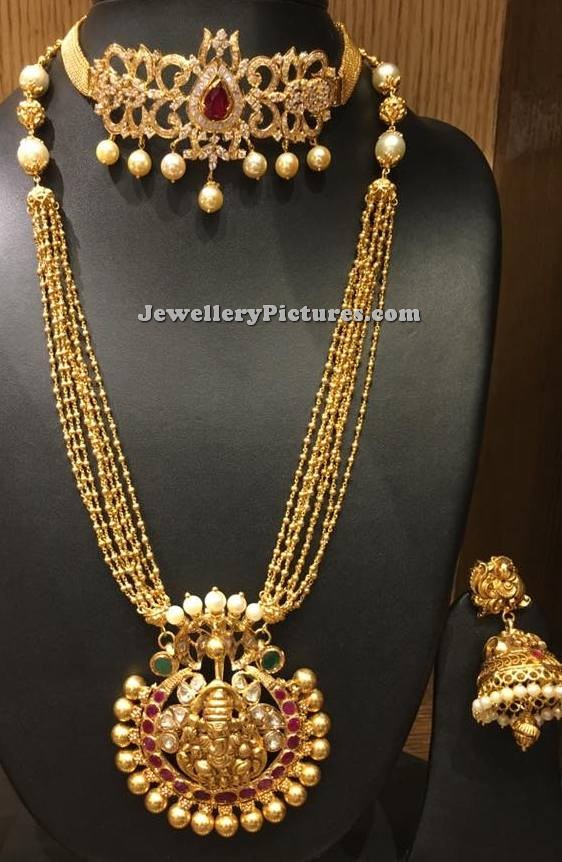 view gold divya larger necklace marriage designs wedding bridal l rings for jewellery indian darshini