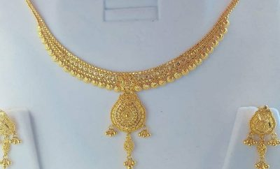 28 Grams Gold Necklace with Earrings Models