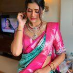 Payal Rajput in Kalasha fine Jewel Diamond Necklace